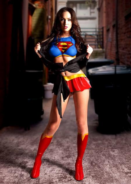 Megan Fox hot Superwoman